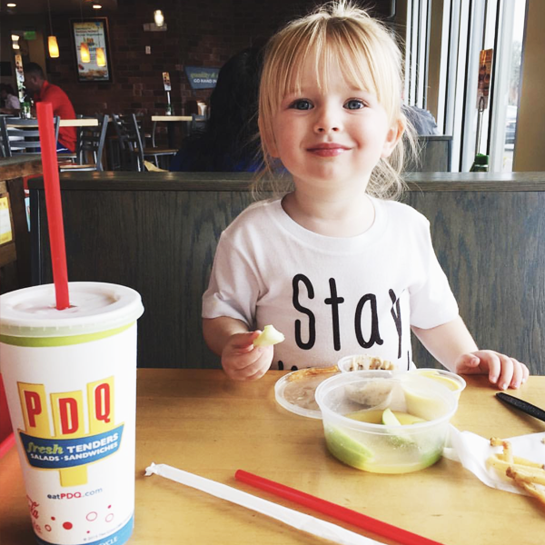 Girl enjoying her PDQ