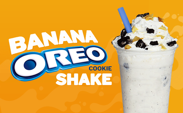 Banana Oreo Cookie Shake
