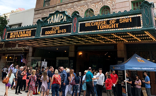 Because of Sam Screening at Tampa Theatre