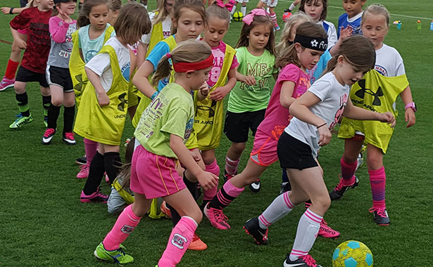 PDQ Columbia Fuels-up Future Soccer Players at USC Womens Soccer Clinic