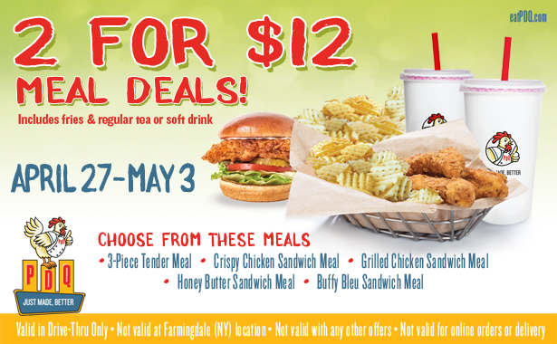 Grab 2 Meals For 12 Dollars From April 27 May 3