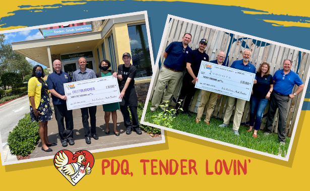 PDQ Donates 55,000 to Best Buddies and 4Roots