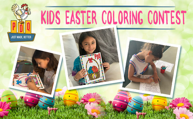 PDQ Kids Easter 2020 Coloring Contest