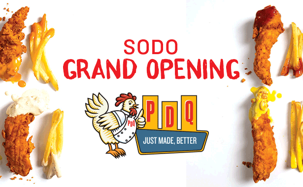 PDQ Orlando SODO Grand Opening Party. Sunday, March 22, 2020