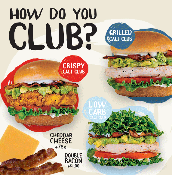 How do you Club? Our hand-crafted fan-favorite Cali Club sandwich is this summer