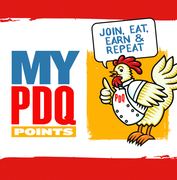 My PDQ Points. Join, Eat, Earn and Repeat