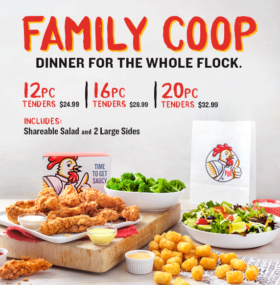 Family Coop. Dinner for the Whole Flock.