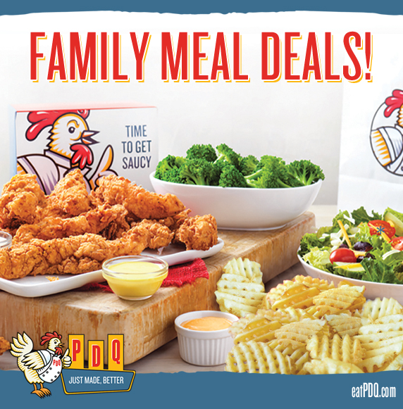 PDQ Family Meal Deals. Now Available at all locations