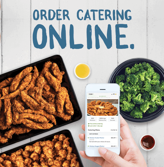 Order Catering Online. Visit eatPDQ.com/Catering to place your order today.